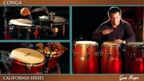 Gon Bops California Series Congas - Mahogany Finish - Featuring Alex Acu?a